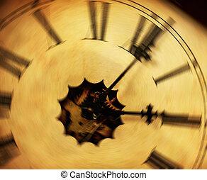 Vintage clock background - Time passing concept