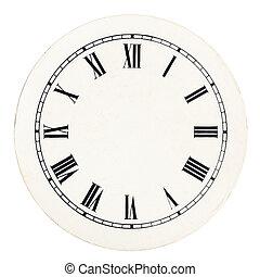 Vintage clock dial template