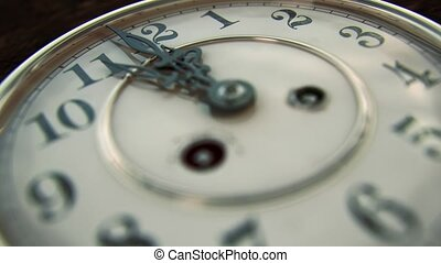 Vintage Clock Face, 12 On The Dot - Neutral Version - This...