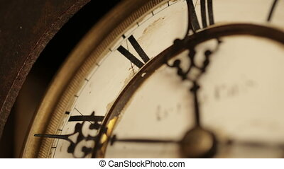Vintage clock face close up