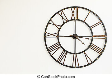 Vintage Clock icon isolated on a white background