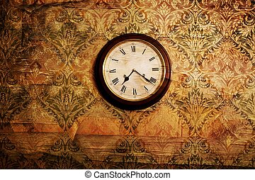 Vintage clock on a wall