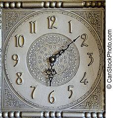 vintage clock ornamental dial