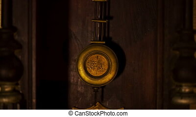 Pendulum of a old clock