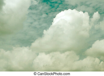 Vintage cloudy sky