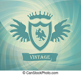 Vintage coat of arms vector