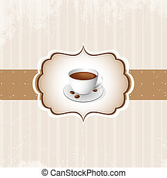 Vintage Coffee Background. Vector.
