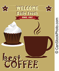 vintage coffee poster design