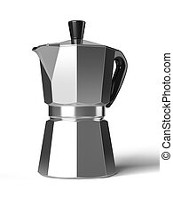 Vintage coffee pot isolated on a white background 3D...