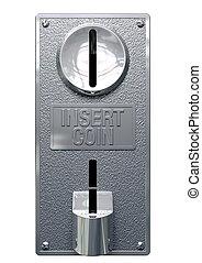 Vintage Coin Slot Machine Panel Front