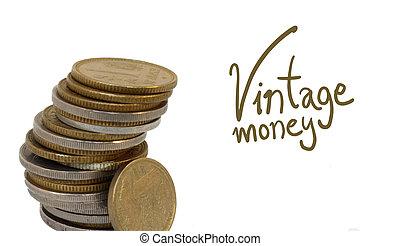 vintage coins detail