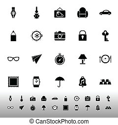 Vintage collection icons on white background