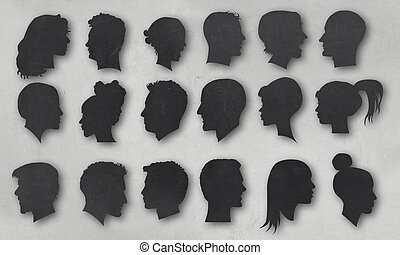 Human Silhouettes with Clipping Path