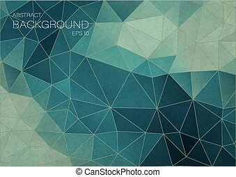 Vintage color Blue triangle background
