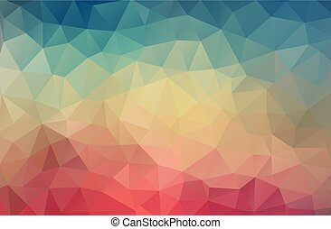 Vintage color geometric triangle wallpaper