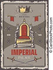 Vintage Colored Royal Poster