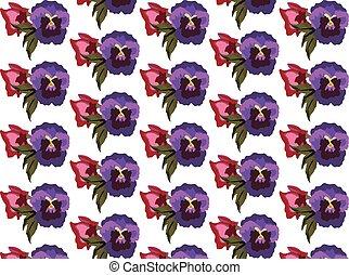 Vintage colorful flowers pattern