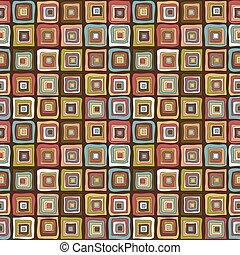Vintage colorful squares background