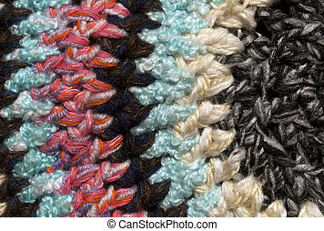 Vintage colorful textile carpet close-up.