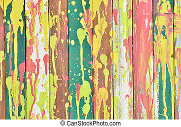 Vintage colorful wall