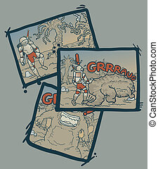 Vintage comic - Creative design of vintage comic