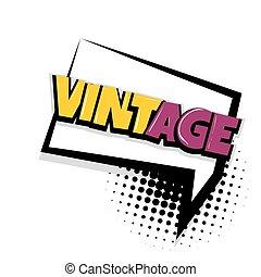 vintage comic text white background - retro, vintage Comic...