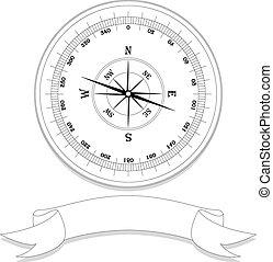 vintage compass - vector illustration of vintage compass