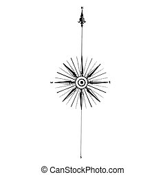 Vintage compass wind rose icon vector logo design template. wind chart, mariners card, Rose of the Winds, wind flower,
