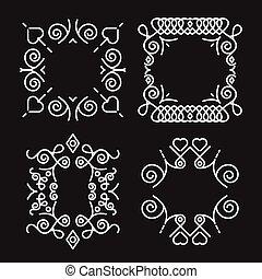 Vintage concept monogram frames set