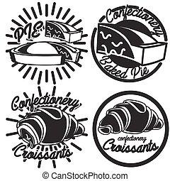 Vintage confectionery emblems