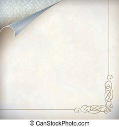 Vintage corner card