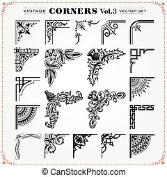 Vintage Corners Design Elements