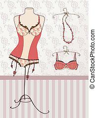Vintage corset and bra