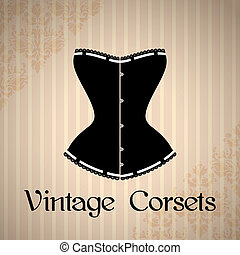 Vintage corset background - Vintage background with elegant...