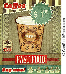 Vintage Cover for Coffee Menu
