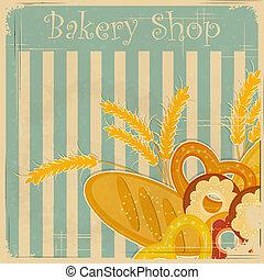 Vintage cover menu for Bakery