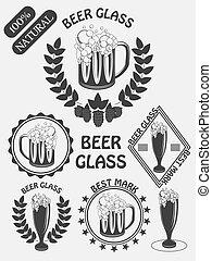 Vintage craft beer brewery emblems, labels and design elements. Beer my best friend.