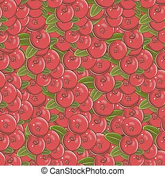 Vintage Cranberry Seamless Pattern