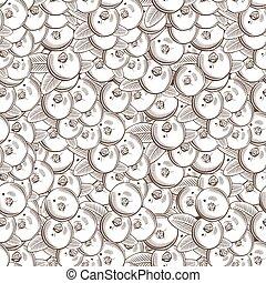 Vintage Cranberry Seamless Pattern