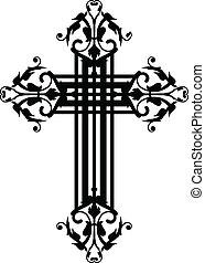 vintage cross - Vector illustration of vintage cross