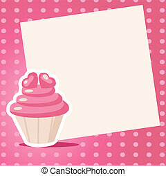 Vintage cupcake background with place for your text