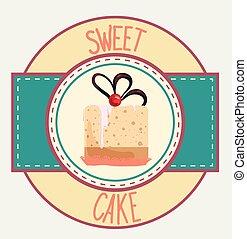 Vintage cupcake design template
