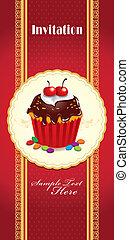Vintage cute cupcake design