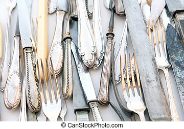vintage cutlery - beautiful old silver tableware