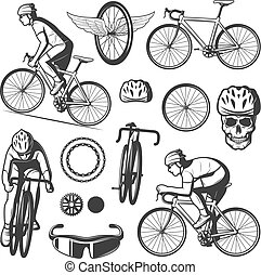 Vintage Cycling Elements Collection - Vintage cycling...