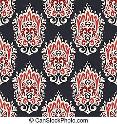 vintage damask seamless ornamental pattern