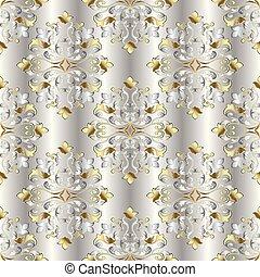 Vintage damask seamless pattern.