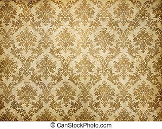 vintage damask wallpaper