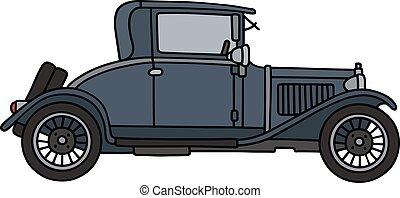 Vintage dark blue coupe