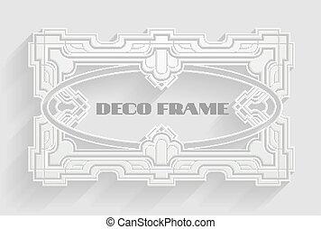 Vintage Deco Frame Background